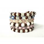Ahhaat/mäekristall/roosa kvarts/howlite/opaliit